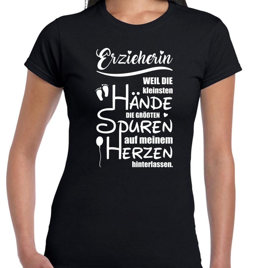 Shirt black Erzieherin