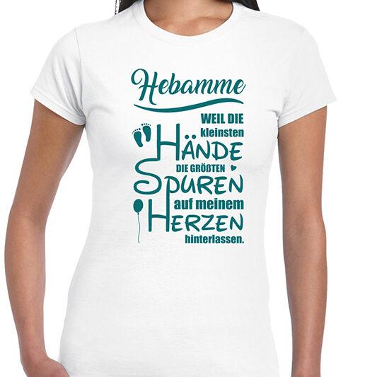 Shirt white Hebamme