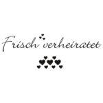 Aufkleber-FrischVerheiratet_Einzeiler