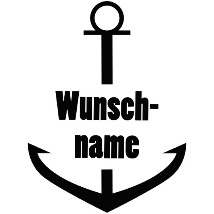 Aufkleber_Anker_Wunschname_black